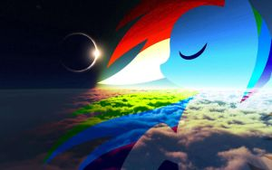 Rainbow dash Eclipse by pewdiedash