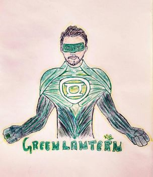 Green Lantern  by vickeey08