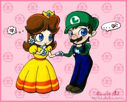 Luigi x Daisy by lemonadepink