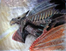 Dragon Alduin Rising - final step 3 by ShadeOvWarlock