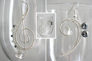 Music Themed Earrings by EcstaticDismay