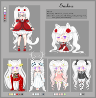 Sashire ref sheet by DeathlyDemise