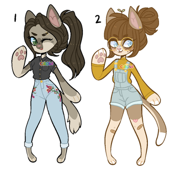 Cat Adoptables by delariie