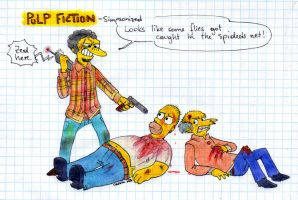 PULP FICTION - Simpsons Style by Cirilee