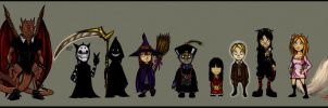 Ghostville characters ALL by Thevakien