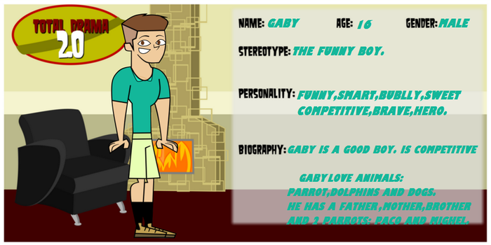 Total Drama 2.0-Gaby by Gaby2003
