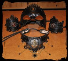 leather masquerade outfit by Lagueuse