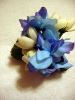 Sky Puff Flower clip by LinksLove