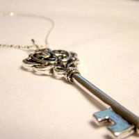 Victorian Skeleton Key Pendant by SteamSociety