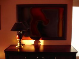 Mirror and Lamp by Comacold-stock