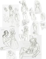 Roger and Elouise Sketch Dump by Hamncheese95