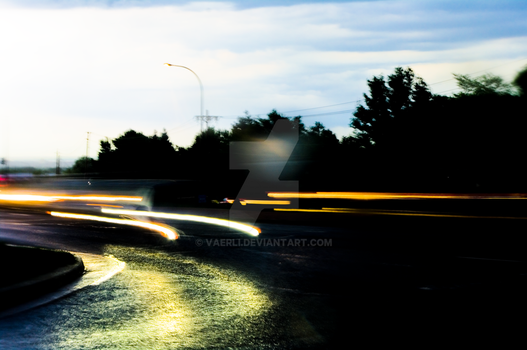 Lights and the Road by Vaerli