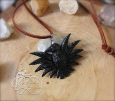 Crow Pendant by NadilynBeato