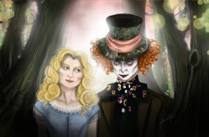 Alice and The Mad Hatter by PaigeYasminElder