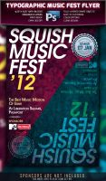 Typographic Music Fest Flyer by squizmo
