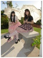 The parasol sisters II by sugarycarnival