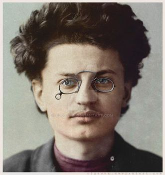 Young Trotsky by olgasha