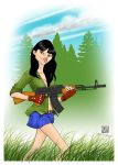 girl with AK by chclaudino