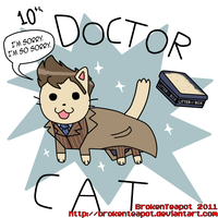 Doctor Cat-Who fan art by BrokenTeapot