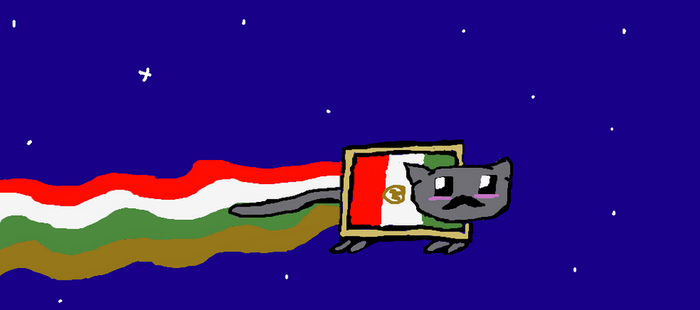 Mexican Nyan Cat by Invaderzim19