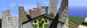 Minecraft project #3 Rush City by twixthepichu