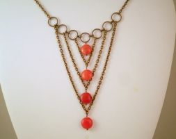 Orange Quartzite Bib Necklace by JanecShannon