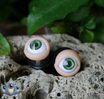 Rich Green Eye Plugs by JulieBeloussow
