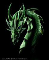 emerald dragon by Hidden-Treasury
