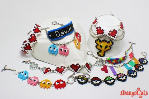New hama beads bracelet by uenkii