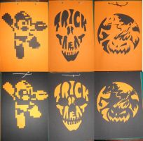Pumpkin Carving decorations by paperart