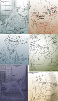 Little Nightmares doodles -4- by Cageyshick05