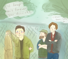 SPN- Cas You Diiiicckk by annit-the-conqueror