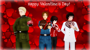 MMD Hetalia - Happy Valentine's Day! by PikaBlaze