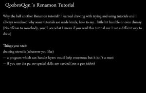 Qozis Renamon Tutorial 1_10 by QozbroQqn