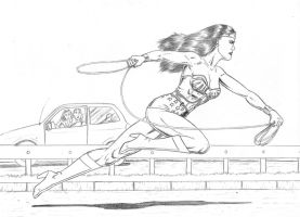 Wonder Woman: Faster than Hermes! by RPL-Arts