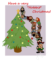 have a happy hobbit christmas! by ifroggirl