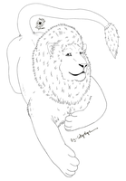 Free-Lineart-Lion by Catbirdwoman