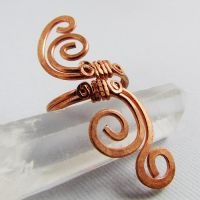 Copper Swirly Ring by sylva