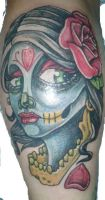 day of the dead gypsy by DrLeeTaattoos