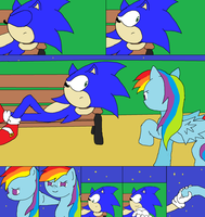 sonic and rainbow dash: hey its me again by TJ0001