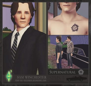 Sam Winchester - Sims 3 [DOWNLOAD] by Fear-Me-December