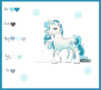 Snowflake Pony 10points CLOSED by xsunnydispositionx