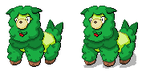 Ansho Fakemon- Ramedge Sprite by Casey333