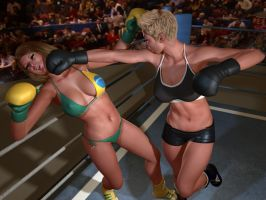 Luiza Slammed Into the Ropes! by cpunch