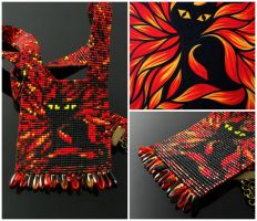 Bead loomed SLN Dark - A HeatherCat by CatsWire