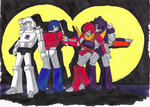 Transformers Leaders Pose by peppermintwind