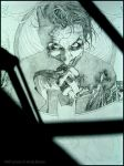 Joker Framed in Shadows: Pencil by andybrase