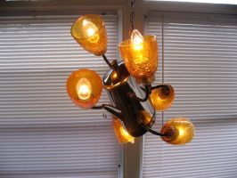 Found Object Chandelier 2 by adoptabot