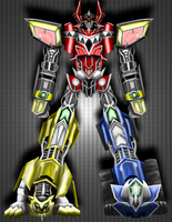 Bayformer Megazord by Emerald-shine