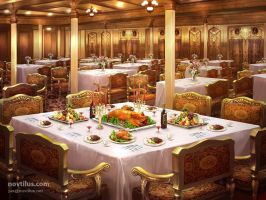 1st Class Dining Saloon by novtilus